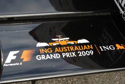 L'aileron avant de la F1 biplace