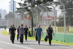 Jenson Button (Brawn GP) et le directeur de l'équipe Ross Brawn