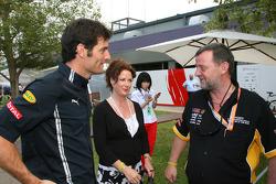 Mark Webber (Red Bull Racing) et Paul Stoddart