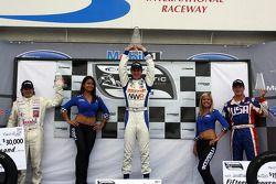 Podium: race winner John Edwards, second place Frédéric Vervisch, third place Jonathan Summerton