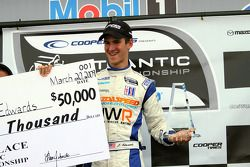 Podium: race winner John Edwards