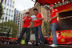 Kimi Raikkonen, Scuderia Ferrari et Felipe Massa, Scuderia Ferrari