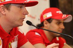 Kimi Raikkonen, Scuderia Ferrari and Felipe Massa, Scuderia Ferrari