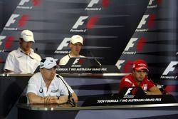 Conférence de presse de la FIA: Robert Kubica, BMW Sauber F1 Team, Jenson Button, Brawn GP, Sebastian Vettel, Red Bull Racing, Felipe Massa, Scuderia Ferrari