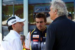 Robert Kubica, BMW Sauber F1 Team, Fernando Alonso, Renault F1 Team, Flavio Briatore, Renault F1 Tea