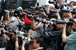 Photographers photograph the drivers