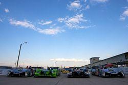 Photo de groupe des voitures de l'American Le Mans Series