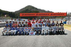 Photo de groupe des pilotes de GT300