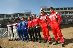 Photo de groupe des pilotes Nissan