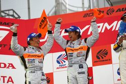 GT300 podium: second place Morio Nitta and Shinichi Takagi
