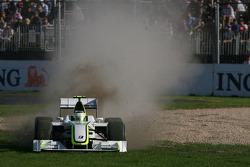 Rubens Barrichello, Brawn GP, BGP001, BGP 001, sorti de la piste