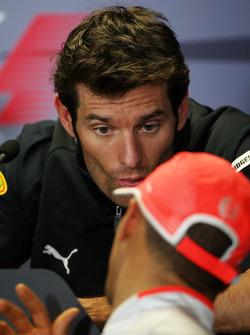 Conférence de presse FIA : Mark Webber, Red Bull Racing, Lewis Hamilton, McLaren Mercedes