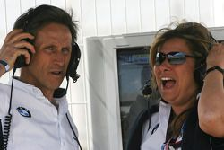 Roberto Ravaglia, ITA, Team Manager and Daniela Zanardi, wife of Alex Zanardi