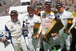 Podium: Félix Porteiro, Scuderia Proteam Motorsport, BMW 320si, Andy Priaulx, BMW Team UK, BMW 320si, Rickard Rydell, Seat Sport, Seat Leon 2.0 TDI et Augusto Farfus, BMW Team Germany, BMW 320si
