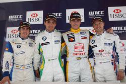 Podium: Félix Porteiro, Scuderia Proteam Motorsport, Augusto Farfus, BMW Team Germany, Rickard Rydel