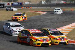 Yvan Muller, Seat Sport, Seat Leon 2.0 TDI et Jordi Gene, Seat Sport, Seat Leon 2.0 TDI