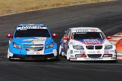 Kristian Poulsen, Liqui Moly Team Engstler, BMW 320si et Alain Menu, Chevrolet, Chevrolet Cruze