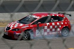 Marin Colak, Colak Racing Team Ingra, Seat Leon 2.0 TFSI avec un pneu crevé