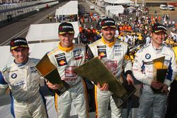Podium: Felix Porteiro, Scuderia Proteam Motorsport, Rickard Rydell, Seat Sport, Yvan Muller, Seat Sport and Andy Priaulx, BMW Team UK