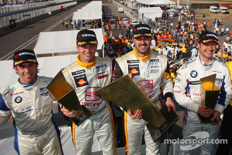 Podium: Felix Porteiro, Scuderia Proteam Motorsport, Rickard Rydell, Seat Sport, Yvan Muller, Seat S