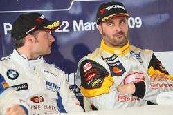 Andy Priaulx, BMW Team UK et Yvan Muller, Seat Sport à la conférence de presse