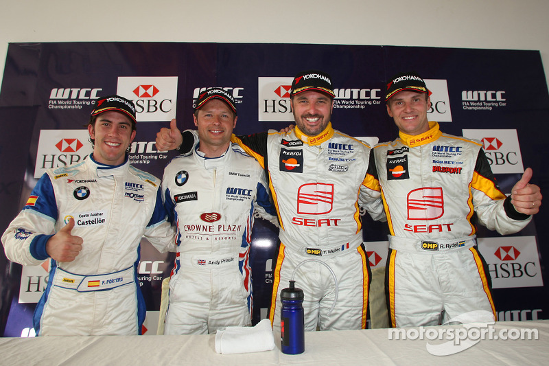 Conférence de presse : Félix Porteiro, Scuderia Proteam Motorsport, Andy Priaulx, BMW Team UK, Yvan Muller, Seat Sport et Rickard Rydell, Seat Sport