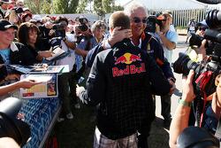 Sebastian Vettel, Red Bull Racing, Flavio Briatore, directeur général de Renault F1 Team,