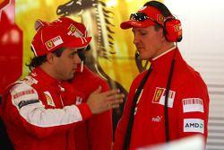 Felipe Massa, Scuderia Ferrari and Michael Schumacher, Test Driver, Scuderia Ferrari