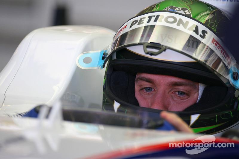 Nick Heidfeld, BMW Sauber F1 Team, Pitlane, Box, garajı