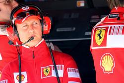 Michael Schumacher, pilote d'essais de la Scuderia Ferrari