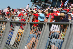 Fans on the grandstand