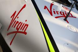 Logo de Virgin, nouveau sponsor de Brawn GP