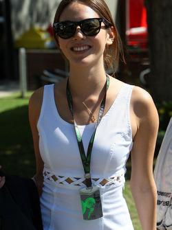 La petite amie de Jenson Button Jessica Michibata
