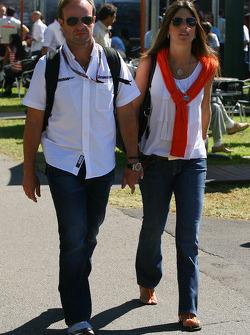 Rubens Barrichello, Brawn GP avec sa femme Silvana Barrichello