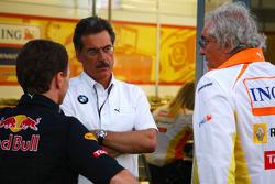 Christian Horner, directeur général de Red Bull Racing, Dr. Mario Theissen, directeur général de BM