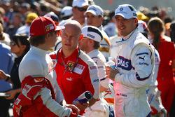 Kimi Raikkonen, Scuderia Ferrari et Robert Kubica, BMW Sauber F1 Team