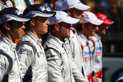 Nico Rosberg, Williams F1 Team à la photo de famille des pilotes