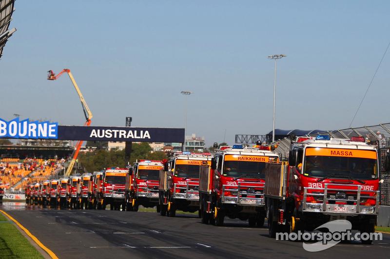 Trucks at the drivers parade