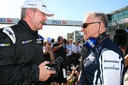Ross Brawn, directeur général de Brawn GP et Patrick Head, directeur de l'ingénierie de Williams