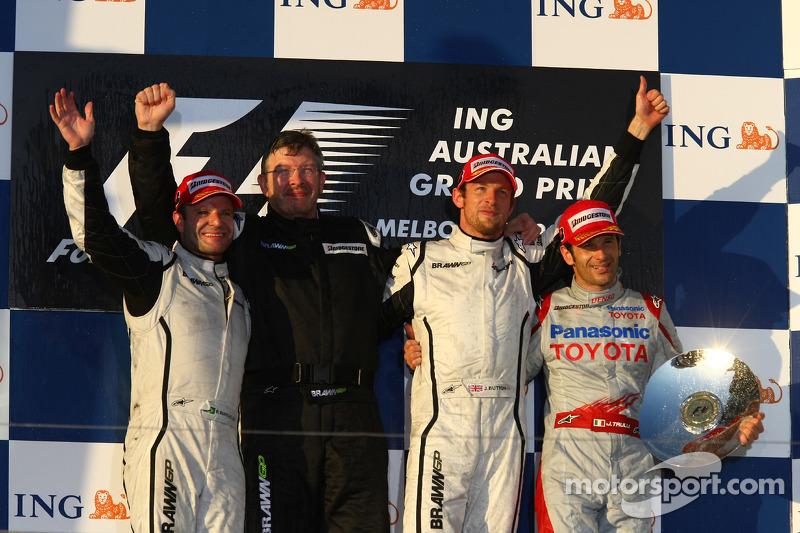 2009: 1. Jenson Button, 2. Rubens Barrichello, 3. Jarno Trulli