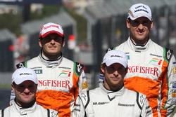 Giancarlo Fisichella, Force India F1 Team et Adrian Sutil, Force India F1 Team