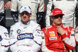 Robert Kubica, BMW Sauber F1 Team et Kimi Raikkonen, Scuderia Ferrari