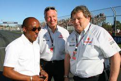 Anthony Hamilton, père de Lewis Hamilton et Nico Hulkenberg, pilote d'essais Williams