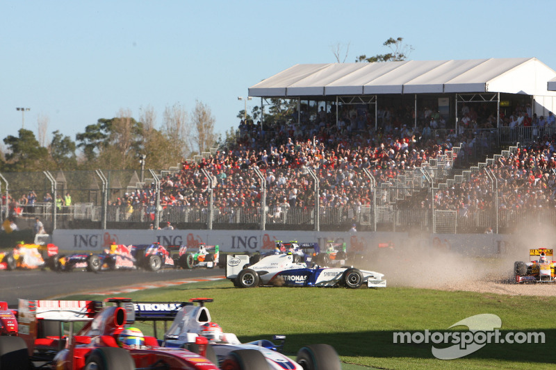 Nick Heidfeld, BMW Sauber F1 Team spins off