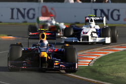 Sebastian Vettel, Red Bull Racing, RB5; Nick Heidfeld, BMW Sauber F1 Team, F1.09