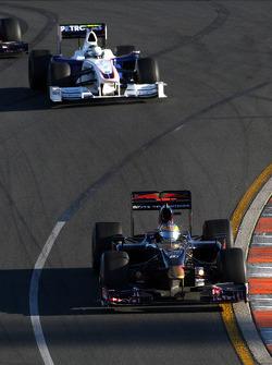 Sébastien Bourdais, Scuderia Toro Rosso devance Nick Heidfeld, BMW Sauber F1 Team, F1.09