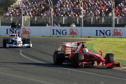 Felipe Massa, Scuderia Ferrari, F60 leads Robert Kubica, BMW Sauber F1 Team, F1.09