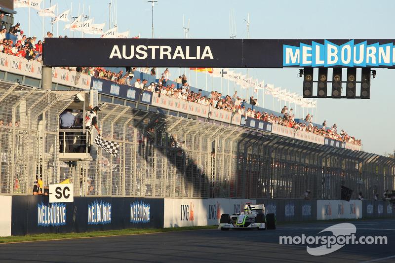 Jenson Button, Brawn GP takes the checkered flag