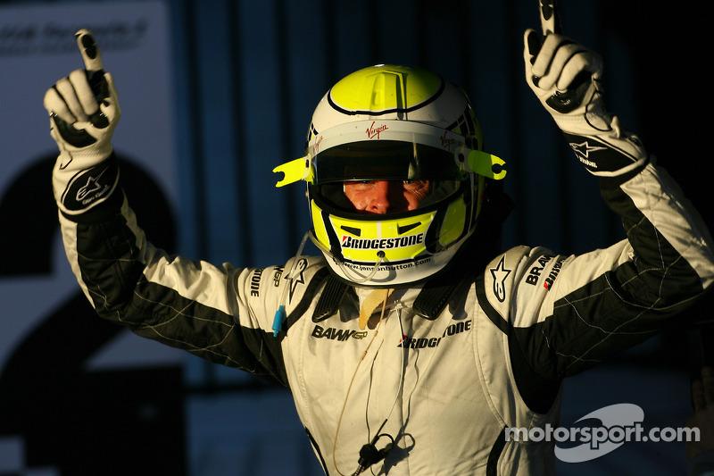 Jenson Button, Brawn GP, celebrates