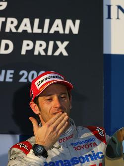 Podium : troisième place pour Jarno Trulli, Toyota Racing